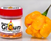Home GrOwn Yellow Trinidad Moruga Scorpion flakes (in magnetic jar)