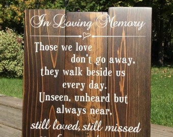 In Loving Memory Wedding Sign-Wedding sign,memorial sign,wedding memorial,memorial,loving memory,memorial plaque