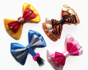 Winnie the Pooh Disney Character Inspired Pooh Bear Eeyore Tigger & Piglet Hair Bows