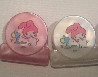 vintage sanrio paper clip my melody ,hello kitty,little twin stars-made in Japan