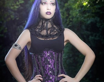 Black lace neck corset-collar-lace corset-neck corset-gothic accessories-gothic corset