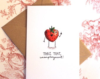 Strawberry New Job Card