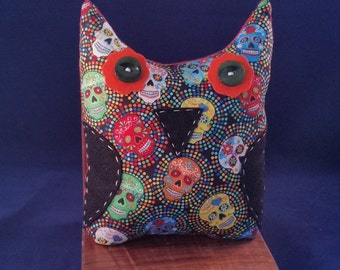 Day of the Dead Owl Stuffed Animal