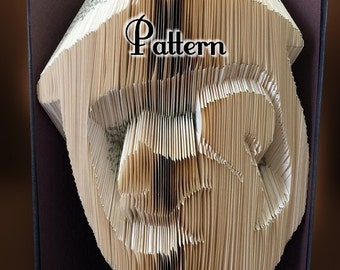Squirrel in Acorn - Folded Book Art Pattern - Instant Download!