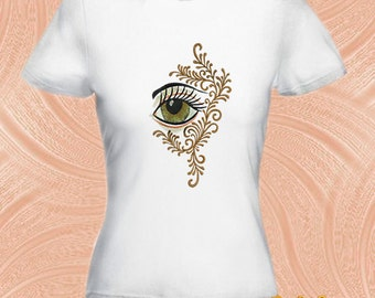"Machine embroidery design ""Eye"" (two sizes) -  embroidery eye - eye - stylized eye"
