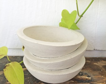 Extra Small Cement Planter | Small Cement Pot | Succulent Pot | Succulents | Modern Decor | Industrial Decor | Jewelry Bowl | Catch All Dish