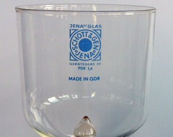 Vintage laboratory glass from GDR Jena, geräteglas 1967 Bakterienfilter in Kerzenform - candleshape