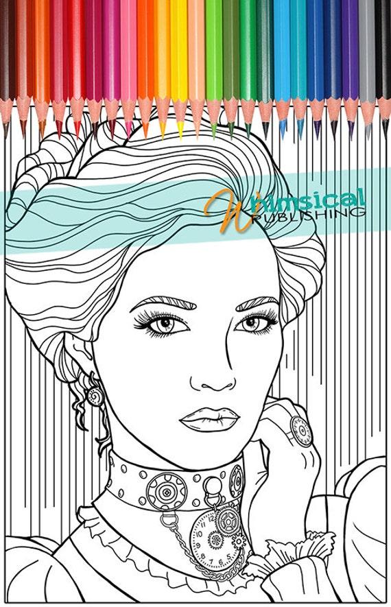 Steam Punk girl Coloring Pages steampunk by ...