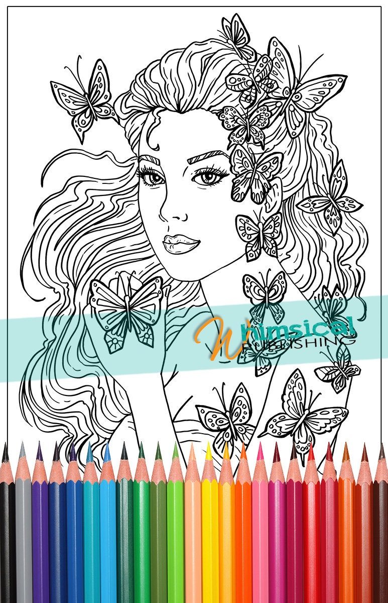 Butterfly Princess Coloring Pages Fashion By