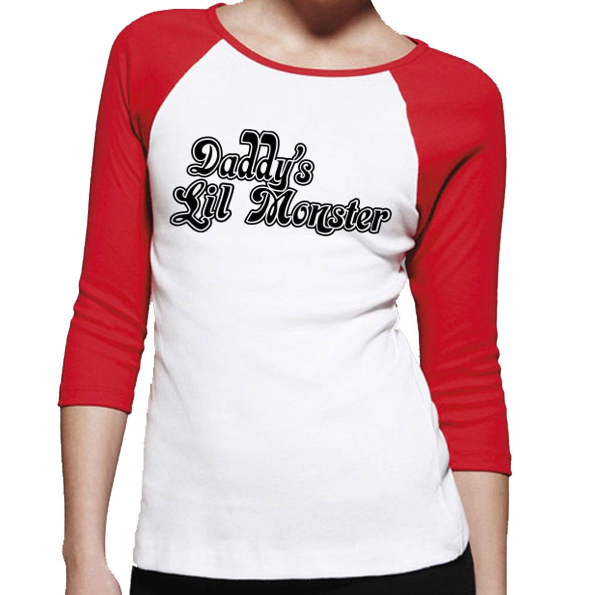 daddy 39 s lil monster ladies t shirt harley quinn costume. Black Bedroom Furniture Sets. Home Design Ideas