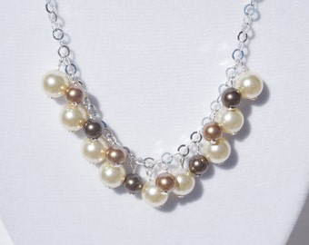 Swarovski crystal pearls on a sterling silver chain