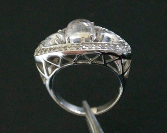 Classic CZ Silver Ring