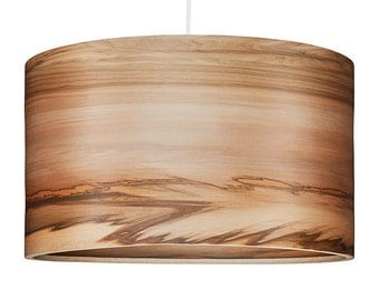 Chandelier Lighting - Wood hanging Lamp, Natural Satin Walnut Veneer, Interior Design Trends, SVEN