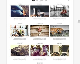 Blogger Template - Grid , Blog Board,blogger theme - Premade blogger - Website Design- template - Grid theme- Instant Download