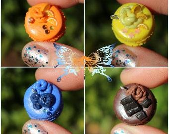 Cute Miniature Food Polymer Clay Macaroon Charm