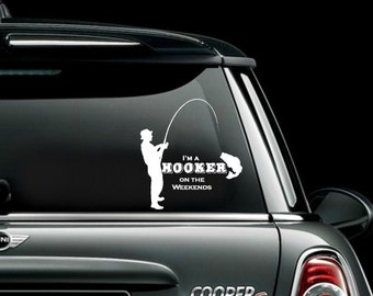 Funny Fishing Decal Etsy - Fishing decals for trucks