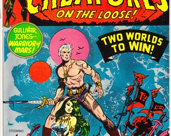 Creatures on the Loose 21, comic book. Jim Steranko art, Sci fi, Outer Space, Bronze Age, Marvel Comics. 1973 Vintage in VF/NM (9.0)