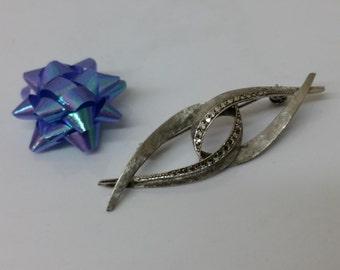 Art Nouveau brooch with Markasiten 935 silver SB175