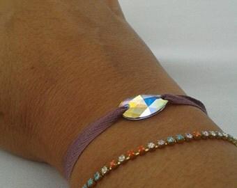 Multicolor rhinestone bracelet Lalala.