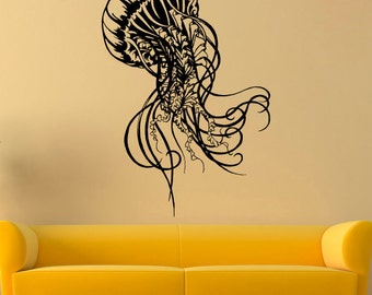 Jellyfish Wall Decal Jellyfish Vinyl Sticker Nautical Decals Wall Vinyl Decor /4xvm/