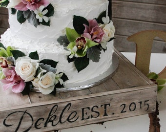 Rustic cake stand, country wedding cake stand, shabby chic wedding, custom personalized cake stand