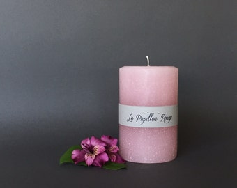 Pink Lady Pillar Candle Tropical Scented 4'' x 6.5''