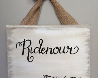 Last Name and Est. Date Wooden Sign