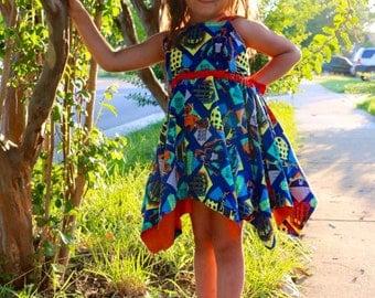 Island style dress peekaboo beans summer