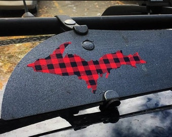 Flannel Plaid UP Decal