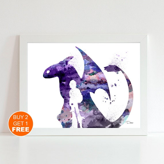 Items Similar To How To Train Your Dragon 2 Watercolor