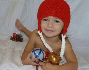 White Christmas with pompom wool Tuque