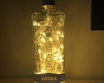 Father's Day gift ,Amsterdam Vodka 100 led bottle light,vodka gift, Vodka lover, table lamp, reading light, gift for him, bar lamp, man cave