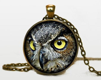 Owl necklace Owl pendant Owl jewelry Owl symbol wisdom necklace bird pendant nature jewelry