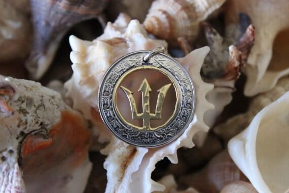 Poseidon symbol trident Percy Jackson necklace