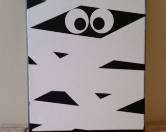 Halloween Mummy Canvas Wall Decor