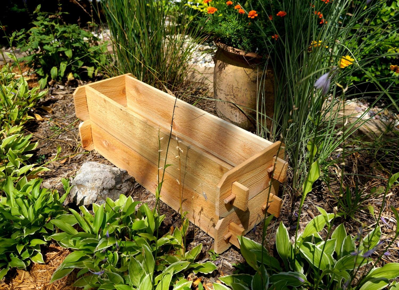 Cedar planter bed deck planter patio planter childrens garden for Garden decking planters
