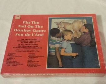 Pin the Tail on the Donkey 1980s Birthday Party Brand New in Box Kids Game