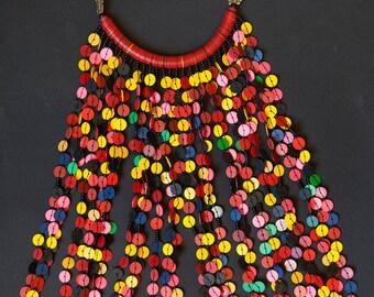 ethnic necklace multicolor