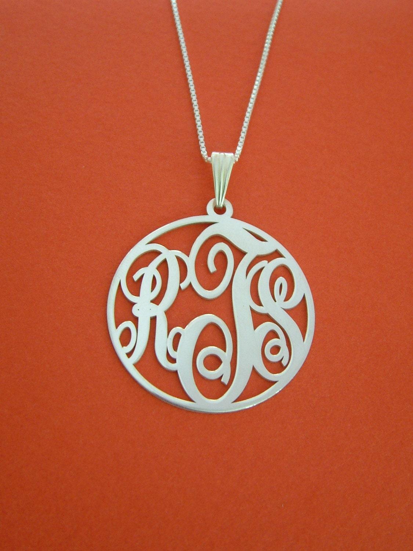 circle monogram necklace white gold circle monogram necklace. Black Bedroom Furniture Sets. Home Design Ideas
