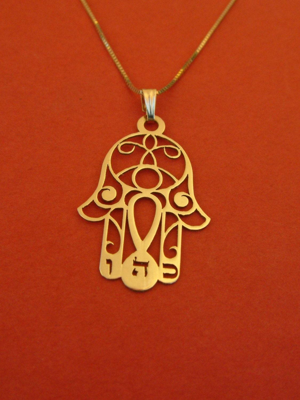 Hamsa Necklace Gold Hamsa Hand Necklace Hand Of Fatima