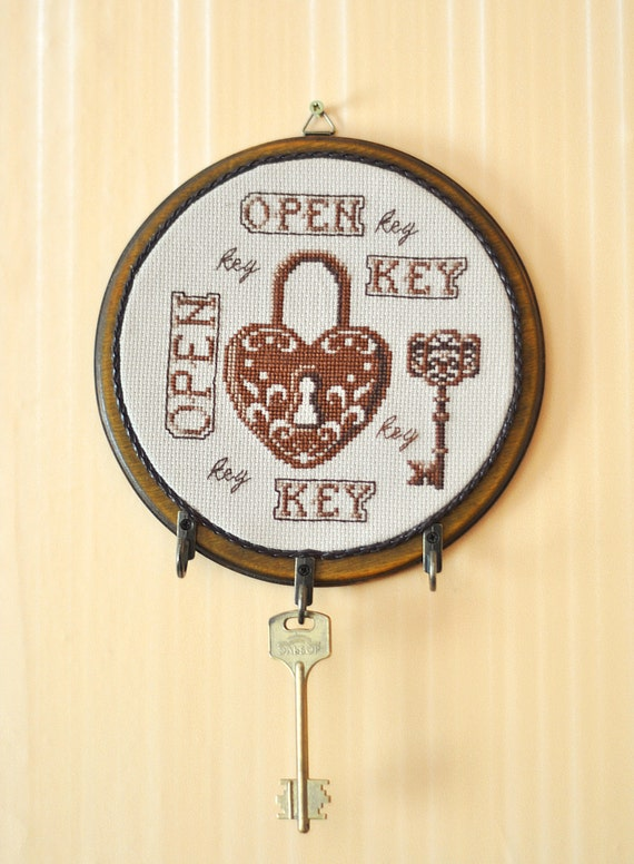 Key holder home decor wall mount lock key rack by for Mural key holder