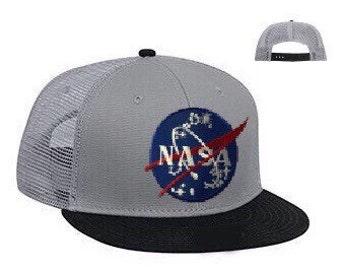 FREE Shipping - NASA Today & Tomorrow Superior Cotton Flat Bill PRO Mesh Snapback Cap