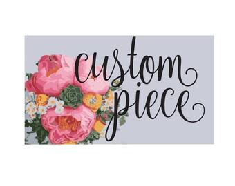 Custom Painting Canvas Verse Quote Art Inspirational Handmade Print