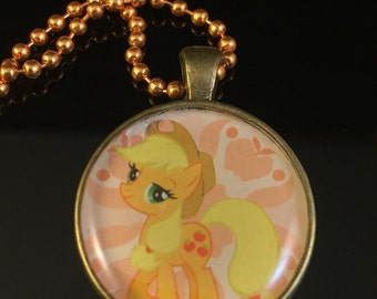 Buttercup from My Little Pony - UPCYCLED Comic and Resin Pendant Necklace or Keychain