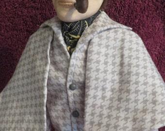 Sherlock Holmes OOAK art doll