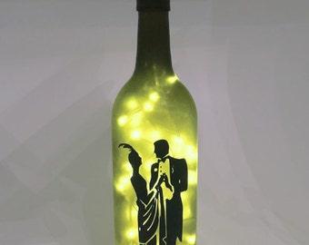 Charleston Wine Bottle Lamp / Romantic / 1920s / Ballroom / Gift Ideas