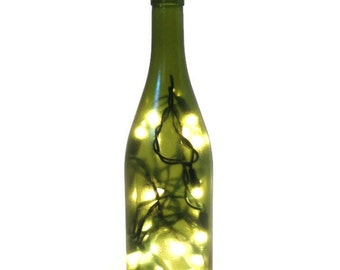 Wine Bottle Light / Wine Bottle Decor / Gifts for Men / Gift Ideas