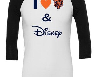 I Love The Bears and Disney Ragaln / Chicago Bears shirt / Bears and Disney
