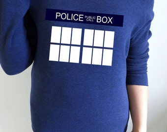 Doctor Who, TARDIS themed slouch jumper