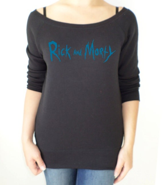 Rick and Morty logo slouch sweatshirt for women